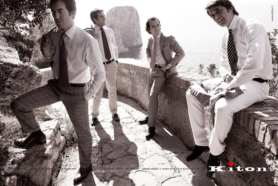 kiton toni thorimbert capri advertising campaign 2012
