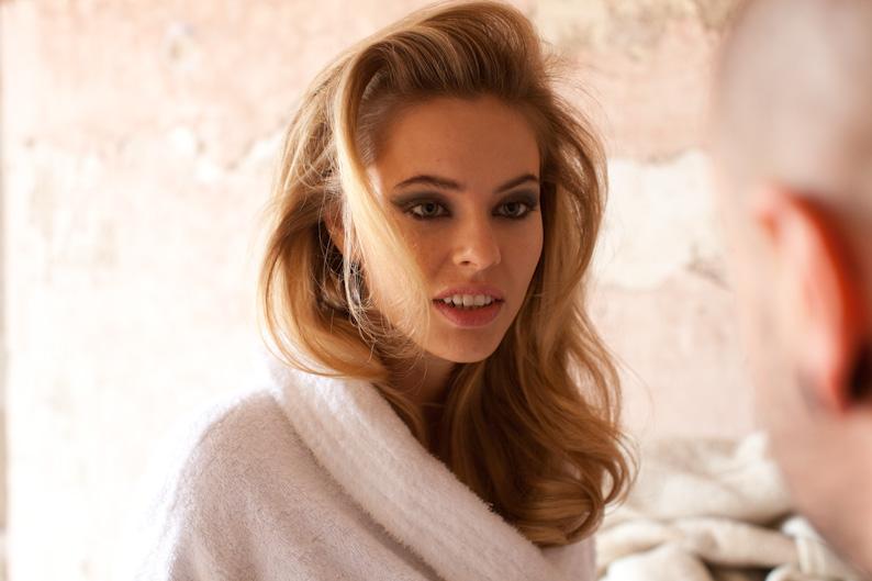 Veromoda campaign,photo Jens Stolze, model Katya Averyanova. Location Pontremoli.