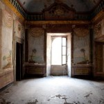 old abandoned interior palace 1600 tuscany italy decandence